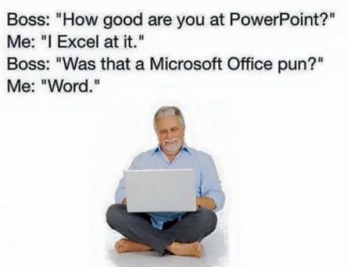16 Microsoft Office Jokes That'll Make You Chuckle To