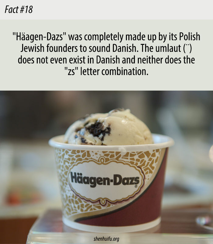 Häagen-Dazs May Be a Danish Name