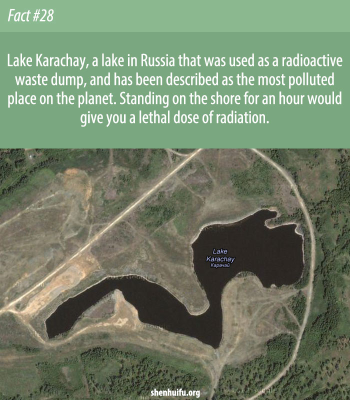 Lake Karachay, a lake in Russia that was used.