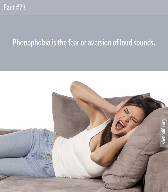 Phonophobia is the fear or aversion of loud sounds.