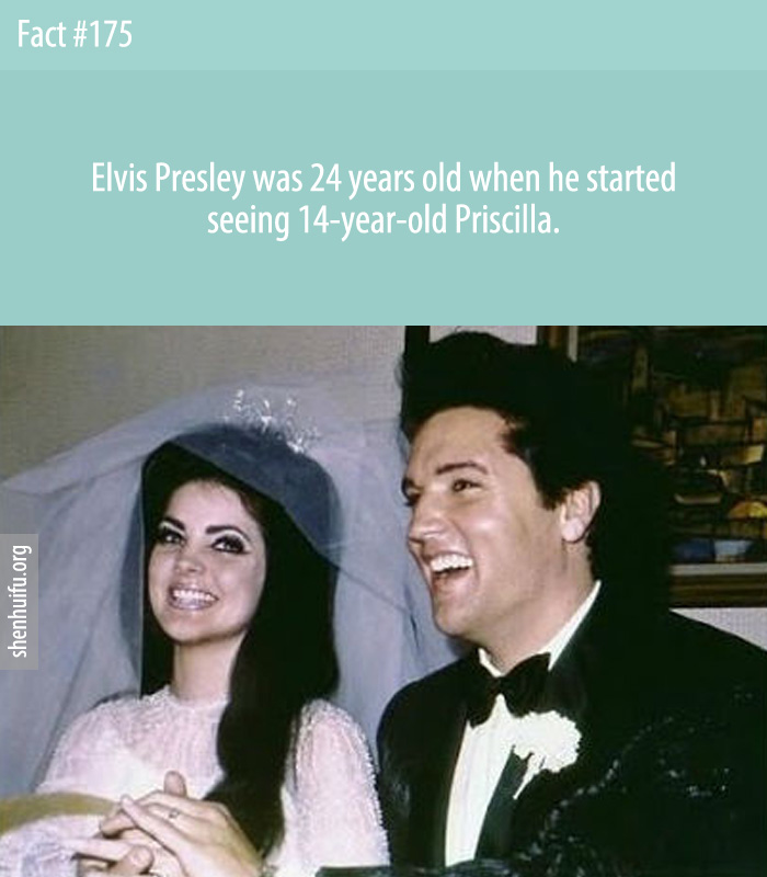 Elvis Presley was 24 years old when he started seeing 14-year-old Priscilla.