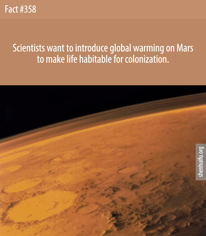 Scientists want to introduce global warming on Mars to make life habitable for colonization.