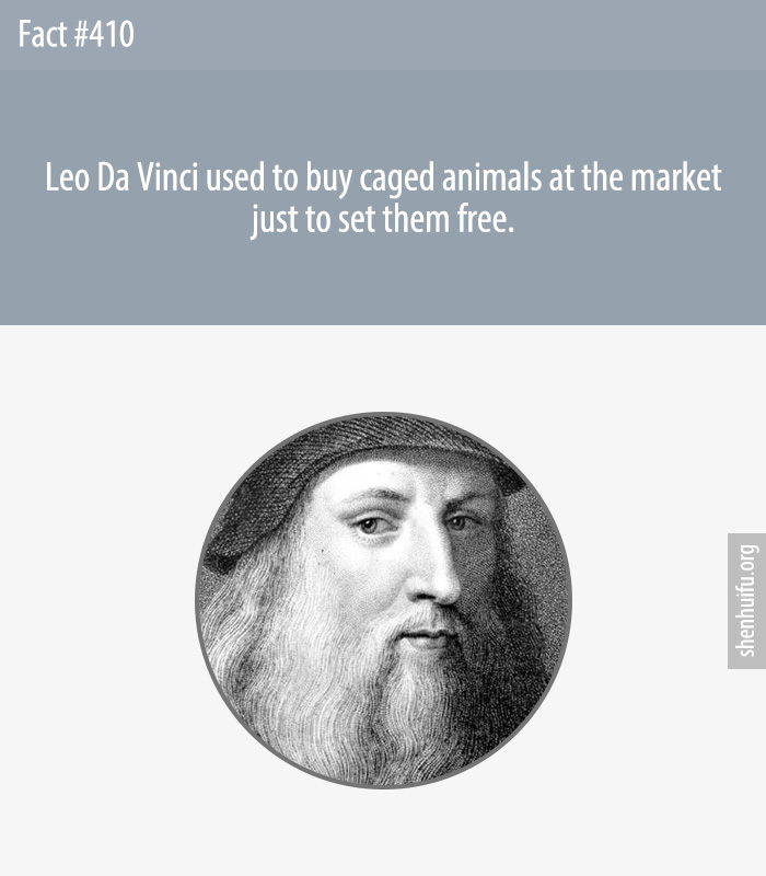 Leo Da Vinci used to buy caged animals at the market just to set them free.