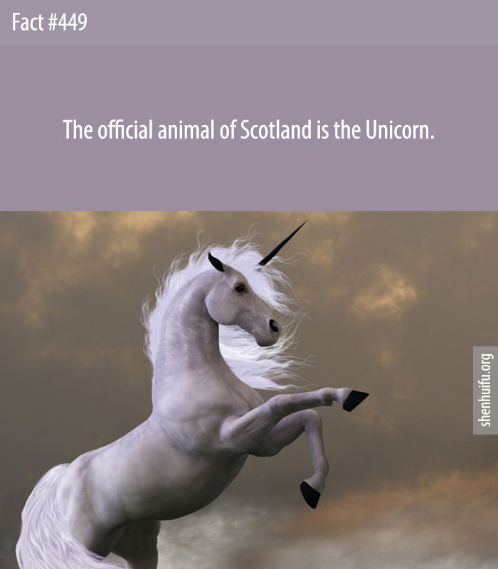 The official animal of Scotland is the Unicorn.